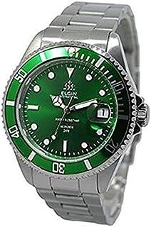 [エルジン] ELGIN メンズ 自動巻き ダイバー グリーン 文字盤 シルバー FK1405S-GR 腕時計 [並行輸入品]