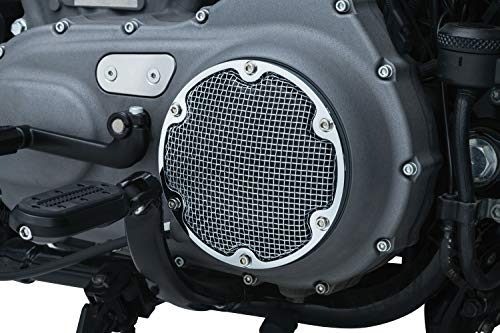 Kuryakyn 6528 Motorcycle Accent Accessory: Mesh Derby Cover for 2004-19 Harley-Davidson XL Motorcycles, Chrome