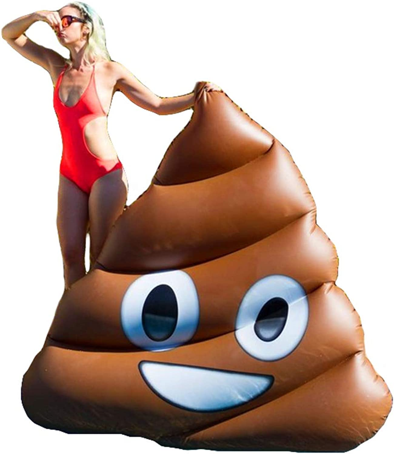 Giant Poop Inflatable Float, Adult Leisure Inflatable Toy for Swimming Pool Party and Water Fun