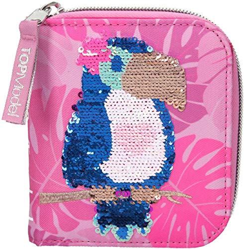 Depesche 10550 Portemonnaie TOPModel Tropical, pink, ca. 10 x 12 x 3 cm, bunt