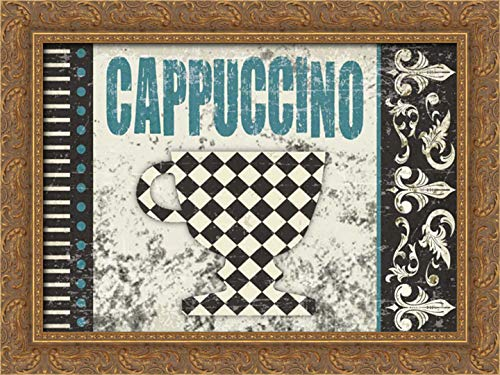 Hogan, Melody 24x17 Gold Ornate Framed Canvas Art Print Titled: Cappuccino Fantastico