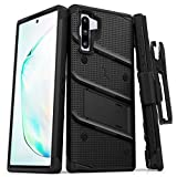 Zizo Bolt Cover - Case for Samsung Galaxy Note 10 & Kickstand and Holster (Black