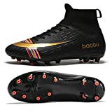 Holystep Scarpe da Calcio Uomo Professionale Sportivo Sneakers Baobu High Top TPU Breathable Soccer Shoes,Wear-Resistant Rubber Sole (6.5,C)