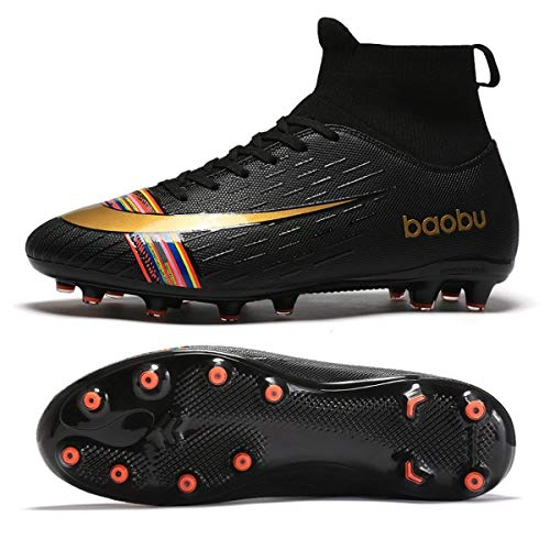 Holystep Scarpe da Calcio Uomo Professionale Sportivo Sneakers Baobu High Top TPU Breathable Soccer...