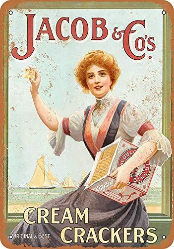 Taco Thursday Jacob Cream Crackers Pintura de Hierro Cartel de Metal Vintage Cartel de Chapa Cartel de Pared Placa para hogar Dormitorio Garaje Dormitorio Cafetería