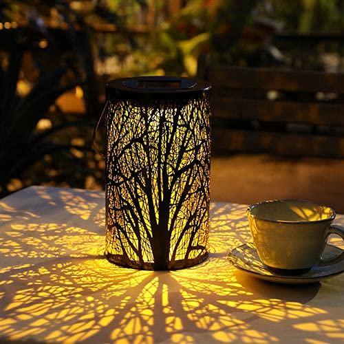 MOLVCE Solar Laterne für Draußen LED Garten Hängende Gartenlaterne Dekorative Außen, IP55 Wasserdicht für Weg Garten Patio Terrasse und Hof Weihnachten - Warmweiß Lichtquelle