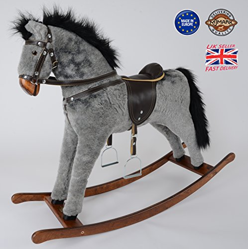 MJmark Handmade Rocking Horse Titan DAPPLE GREY from