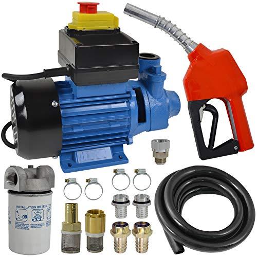 Dieselpumpe Ölpumpe Biodiesel Heizölpumpe 230V, JETZT MIT EXTRA-Ersparnis! BIODIESEL KRAFTSTOFFPUMPE 230V Elektro FASS-Pumpe mit Schlauch, Diesel-Vorfilter mit austauschbarem Filtereinsatz