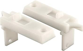 """Prime-Line F 2642 Tilt Latch Pair – Spring-Loaded Vinyl Tilt Latch Replacement Part, 1-11/16"""" Hole Center, White Plastic Construction"""