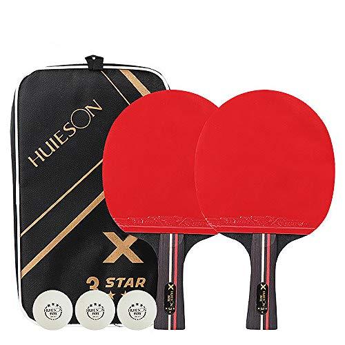 Rayami Kit de Raqueta de Ping - Pong de está Hecho de Fibra de Carbono/7 Capas de láminas,Traje de Raqueta de Tenis de Mesa,Traje de Raqueta de Entrenamiento.