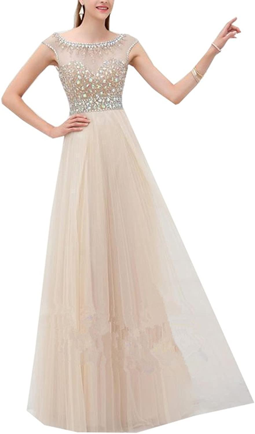 Ai Maria Women's Long Gauze Ball Gown Seam Bead Special Occasions