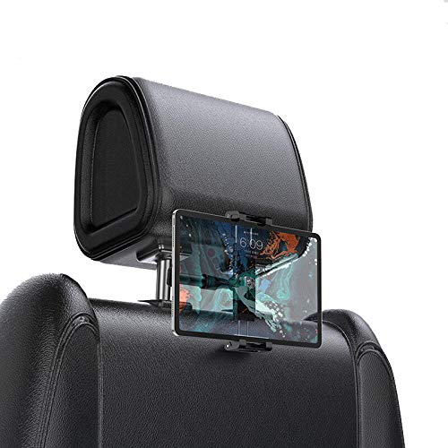 GLYYR Car Back Seat Headrest Mount Holder For Pad 4.7-12.9 inch 360 Rotation Universal Tablet PC Auto Car Phone Holder Stand-Black