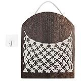 Tomantery Aufbewahrungskorb im böhmischen Stil, Nachttischregal aus Holz für Zimmer Badezimmer für Wohnzimmer Schlafzimmer, Badezimmer, Büros