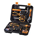 SOLUDE 20-Piece Home Small Tool Kit,General Household Hand Tool Set with Plastic Toolbox Storage Case