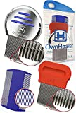 OwnHealer Head Lice Comb [Pack of 3] - Fast Egg, Nit, Lice and Dandruff Remover for Thick and Thin Hair