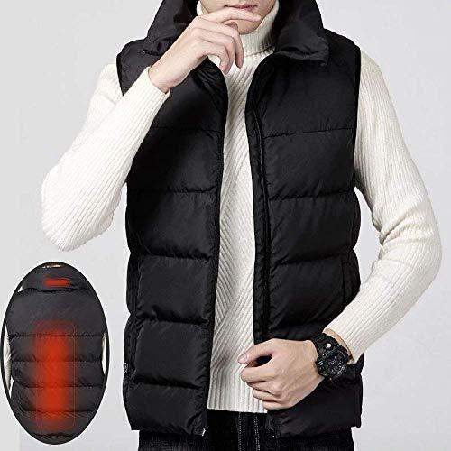 SEESEE.U Gilet Chauffant Veste chauffante Rechargeable USB Vêtements Chauffants lavables pour l'hiver à l'extérieur Randonnée au Chaud Camping Ski, Unisexe (Power Bank Non Incluse), Noir, 4XL