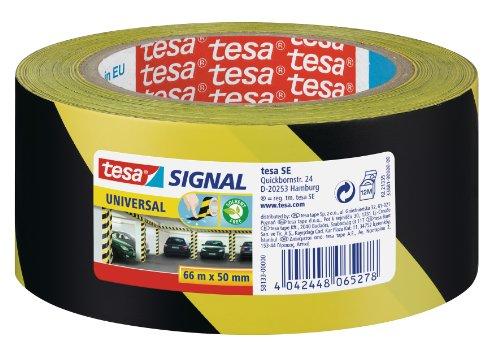 Tesa 58133-00000-00 - Cinta de señalización temporal PP adhesiva, amarillo y negro ⭐