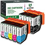 EconomInk Cartucho de tinta compatible con para Epson 378 378XL (B, C, M, Y) para usar en Epson Expression Photo XP-8500 XP-8600 XP-8605 XP8500 XP8600 XP8605 Multipack de 8