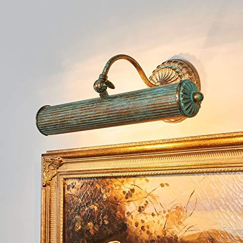 Lindby Wandleuchte, Wandlampe Innen 'Beno' dimmbar (Retro, Vintage, Antik) in Bronze aus Metall u.a. für Wohnzimmer & Esszimmer (2 flammig, E14, A++) - Bilderleuchte, Wandstrahler, Wandbeleuchtung