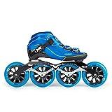 XZ15 Patinage de Vitesse Chaussures en Fibre de Carbone thermoplastiques Skates Professionnels, Hommes et Femmes Adultes Chaussures Roller Enfants, 30-44 Yards
