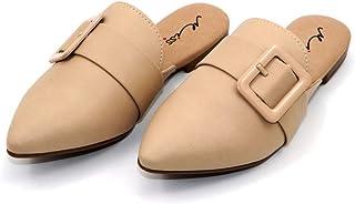 MISS AJ Beige Flat Long Lasting Shoes for Women