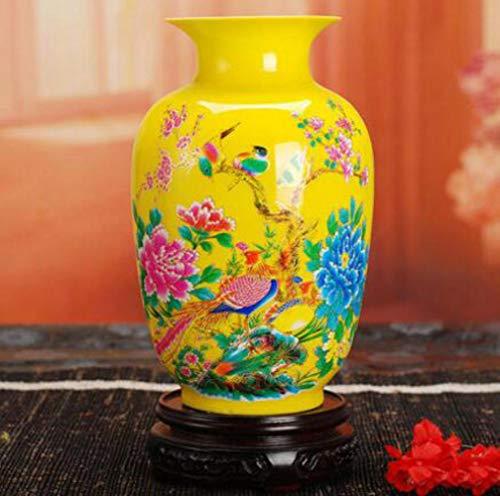 WFM Keramiek rode vaas lotus goud schilderij thuis ambachten ornamenten