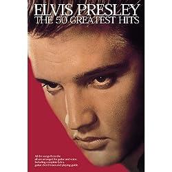 Elvis Presley: The 50 Greatest Hits. Partitions pour Paroles et Accords(Boîtes d\'Accord)