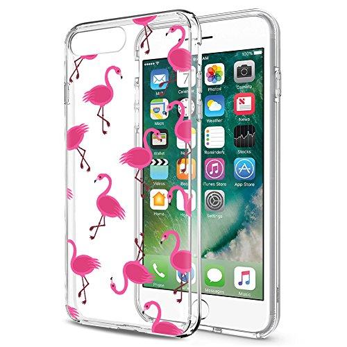 Eouine Funda para iPhone 7/8 / SE 2020, Cárcasa Silicona 3D Transparente con Dibujos Diseño [Antigolpes] Case Cover Protector Fundas para Movil para iPhone 7-4,7 Pulgadas (Flamingos)