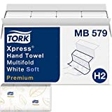 Tork Premium MB579 Soft Xpress Multifold Paper Hand Towel, 3-Panel, 2-Ply, 9.125' Width x 9.5' Length, White (Case of 16 Packs, 135 per Pack, 2.160 Towels)