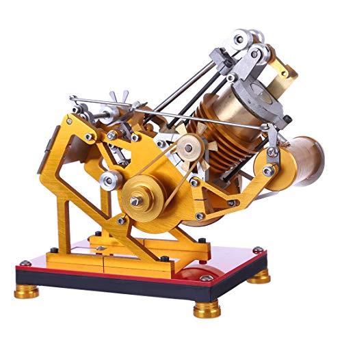 KFMJF Stirlingmotor Bausatz Metall Messing Sterling Motoren Stirling Engine Dampfmaschine Pädagogisches Spielzeug Geschenk für Kinder Erwachsene Technikinteressierte Bastler