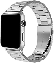 SWAWS Compatible/Replacement for Apple Watch Band 42mm Stainless Steel Watch Band for Apple Watch Series 3 Series 2 Series 1 Sport and Edition Women Men (Silver, 42mm)