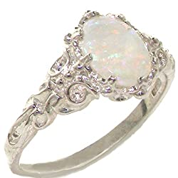 natural oval opal - Opal Wedding Ring Sets