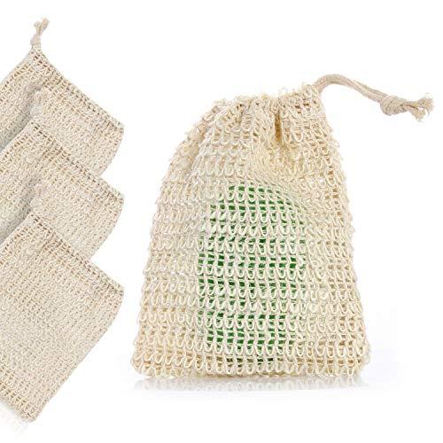 Silverback - 6 sacchettini di sapone organici in sisal con rete per il massaggio dei peeling