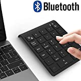 Bluetooth Number Pad, Acedada Portable 27-Key Wireless Bluetooth Numeric Keypad for Financial Accounting Excel Data Entry, Advanced 10 Key Bluetooth Keypad for Laptop, PC, Surface Pro, Notebook, etc