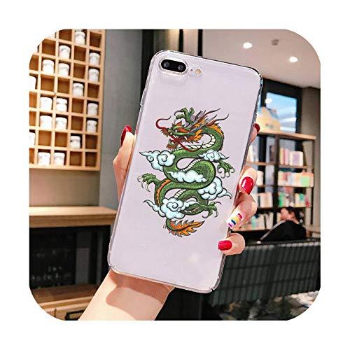 Funda de teléfono para iPhone X XS MAX 6 6S 7 7plus 8 8Plus 5 5S SE 2020 XR 11 11pro max funda transparente A15-Para iPhone 6plus