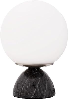 Pauleen 48192 Shining Pearl Lampe de table max. 20 W Noir/blanc/marbre/verre E14