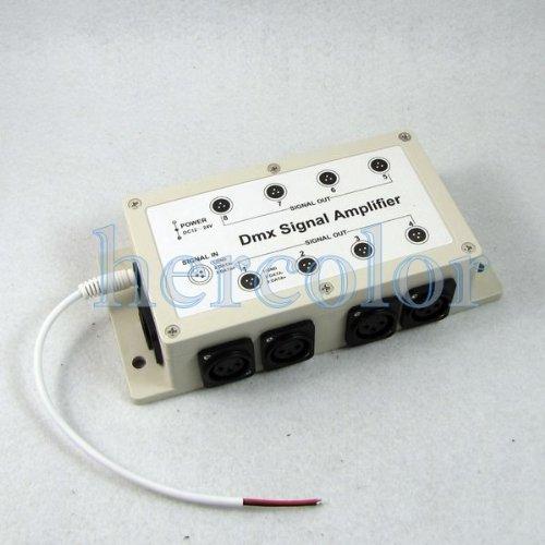 1 Way in 8 Kanälen gab DMX DMX512 LED Signal-Verstärker-Teiler Händler