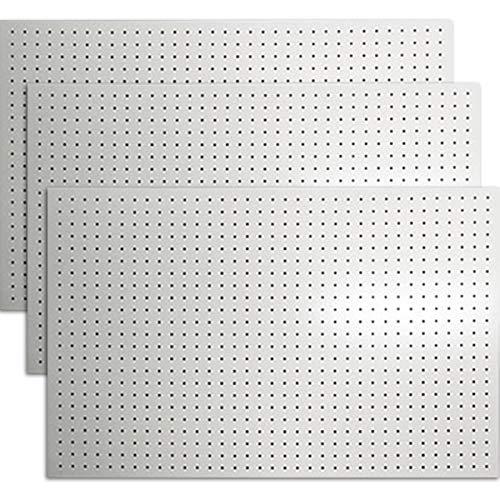 有孔ボード カラー 1/3サイズ(4ミリ厚x横900ミリx縦600ミリ) UKB-600900-3S 穴径5ミリ穴ピッチ25ミリ 3枚入り (白)