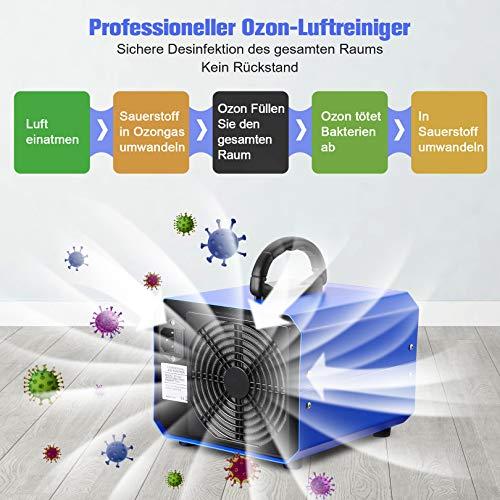 Generatore di ozono 10000mg / h Purificatore professionale di ozono con timer adatto per abitazioni, uffici, ristoranti, caffetterie, hotel e garage ecc.