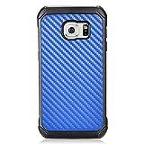 Z-GEN - Galaxy S7 - Hybrid TPU Protective Case for Samsung SM-G930 + PET Film Screen Protector - EC4 Blue Carbon