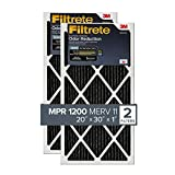 Filtrete 20x30x1, AC Furnace Air Filter, MPR 1200, Allergen Defense Odor Reduction, 2-Pack (exact dimensions 19.81 x 29.81 x 0.81)