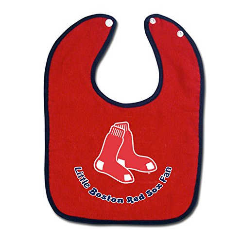 MLB Boston Red Sox Colored Snap Baby Bib