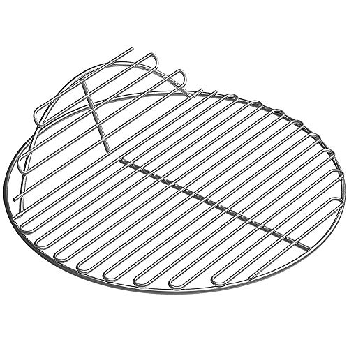 SELEWARE SUS304 Stainless Steel Round Grid Hinged Cooking Grate Replacement for Large Big Green Egg Kamado Joe Classic Char-Griller Barbecue Ceramic Grill and Smoker, 18.5' Diameter
