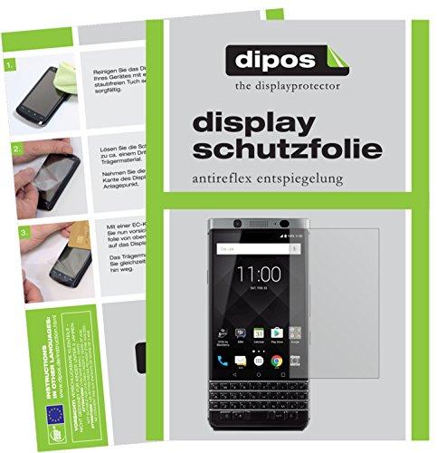 dipos I 2X Schutzfolie matt kompatibel mit BlackBerry KeyOne Folie Bildschirmschutzfolie
