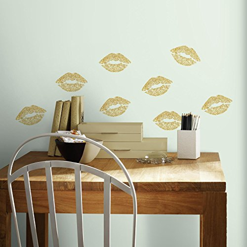 RoomMates Lip Peel And Stick Wall Decals With Glitter