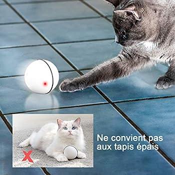 ZITFRI Jouet Interactif pour Chat Boule Rotative Automatique à 360 Degrés Balles Interactives Automatiques Rotatives