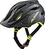 Alpina Carapax JR. Casco de Ciclismo, Unisex-Youth, Black-Neon Yellow, 51-56