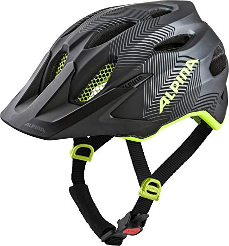 ALPINA CARAPAX JR. Fahrradhelm, Kinder, black-neon yellow, 51-56