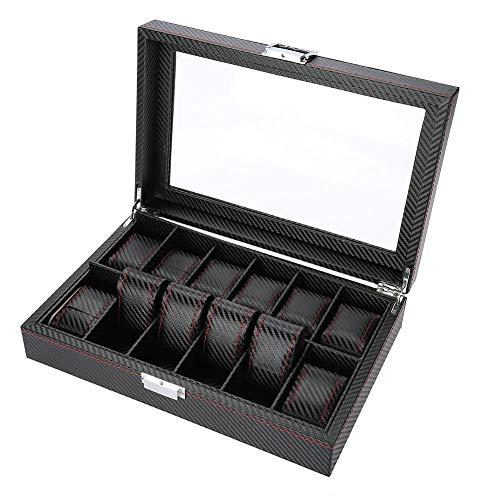 Caja de Relojes, 10 Grids Caja de Almacenamiento de Relojes...