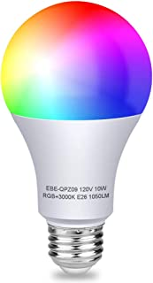 Aigital Smart Light Bulb WiFi Bulb Color Changing Bulb Work with Alexa/Google Home/IFTTT,No Hub Required,Easy to Connect